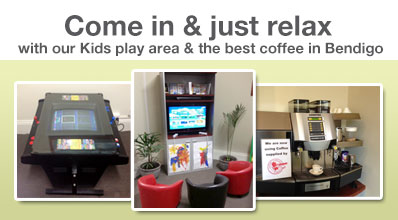 Come in and relax at BLS FInancial Bendigo Victoria